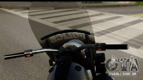 Police Bike GTA 5 para GTA San Andreas traseira esquerda vista