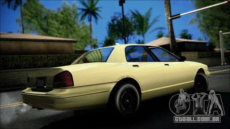 Civillian Vapid Stanier II from GTA 4 para GTA San Andreas esquerda vista