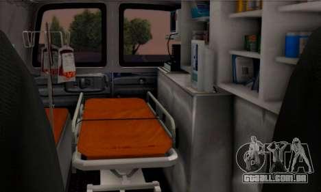 Chevrolet Exspress Ambulance para GTA San Andreas vista traseira
