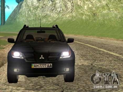 Mitsubishi Outlander para GTA San Andreas traseira esquerda vista