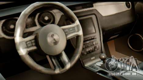 Ford Shelby GT500 RocketBunny para GTA San Andreas vista traseira