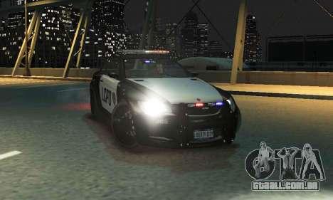 GTA V Ubermacht Sentinel Police [ELS] para GTA 4 traseira esquerda vista
