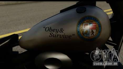 Police Bike GTA 5 para GTA San Andreas vista direita
