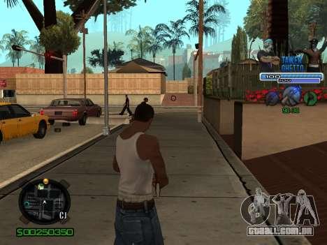 C-HUD для Gueto para GTA San Andreas terceira tela