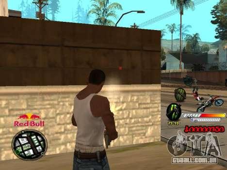 С-HUD RedBull para GTA San Andreas terceira tela