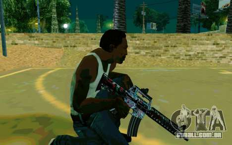 M4A1 (Looney) para GTA San Andreas por diante tela