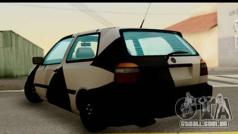 Volkswagen Golf 3 para GTA San Andreas esquerda vista