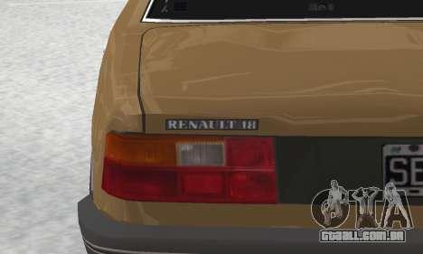Renault 18 para GTA San Andreas vista superior