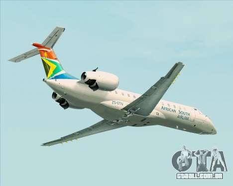 Embraer ERJ-135 South African Airlink para GTA San Andreas vista traseira