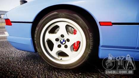 BMW E31 850CSi 1995 [EPM] para GTA 4 vista de volta