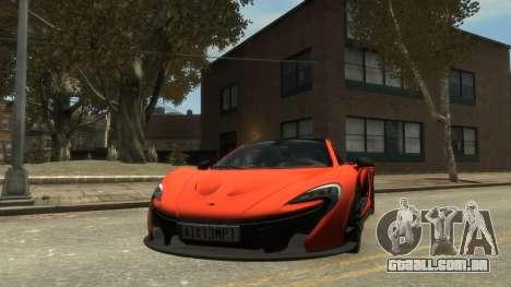 McLaren P1 2013 [EPM] para GTA 4 traseira esquerda vista