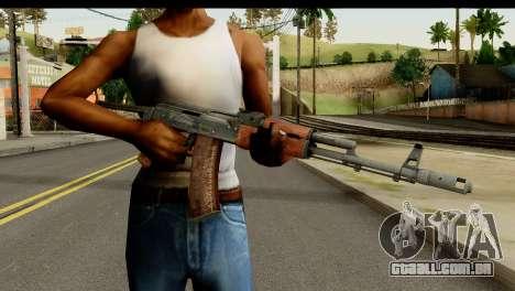 AKS-74 Madeira Escura para GTA San Andreas terceira tela