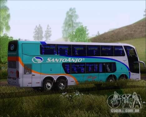 Marcopolo Paradiso G6 1800DD 8x2 SCANIA K420 para GTA San Andreas vista traseira