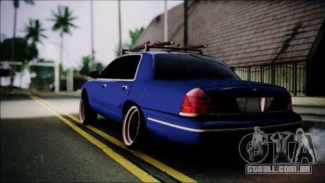 Ford Crown Victoria Stance Nation para GTA San Andreas esquerda vista