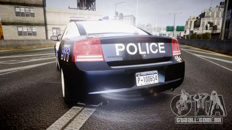 Dodge Charger 2006 Algonquin Police [ELS] para GTA 4 traseira esquerda vista