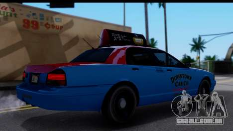 Taxi Vapid Stanier II from GTA 4 para GTA San Andreas traseira esquerda vista