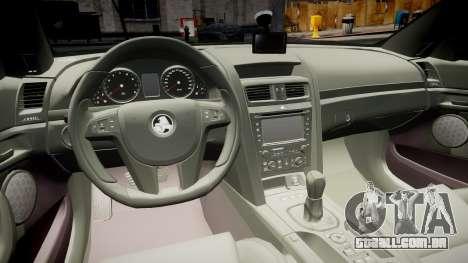 Holden Commodore Omega Series II Taxi v3.0 para GTA 4 vista de volta