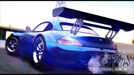 BMW Z4 GT3 para GTA San Andreas esquerda vista