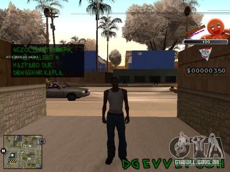 C-HUD Cookie para GTA San Andreas segunda tela