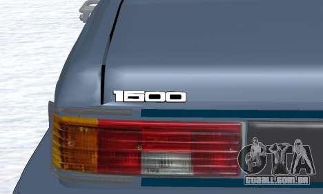 Peykan Separ Joshan 1600 para vista lateral GTA San Andreas