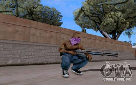 Blueline Gun Pack para GTA San Andreas segunda tela