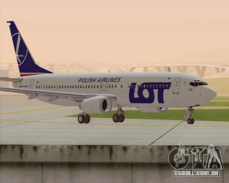 Boeing 737-800 LOT Polish Airlines para GTA San Andreas traseira esquerda vista