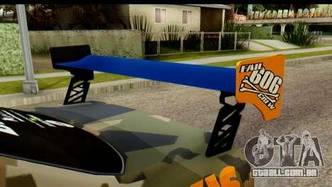 Nissan Skyline R34 Maxxis GT para GTA San Andreas traseira esquerda vista