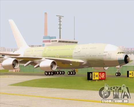 Airbus A380-800 F-WWDD Not Painted para GTA San Andreas esquerda vista