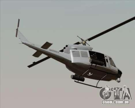 Bell UH-1N Huey USMC para GTA San Andreas esquerda vista