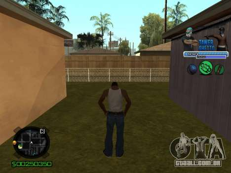 C-HUD для Gueto para GTA San Andreas