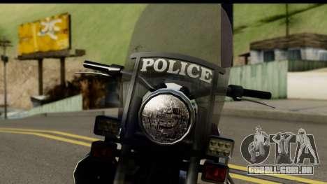 Police Bike GTA 5 para GTA San Andreas vista traseira
