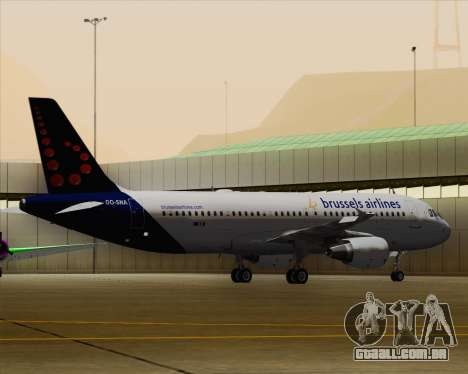 Airbus A320-200 Brussels Airlines para GTA San Andreas vista inferior