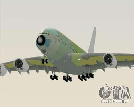 Airbus A380-800 F-WWDD Not Painted para vista lateral GTA San Andreas