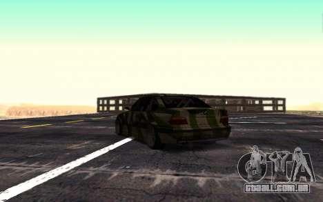 BMW M3 E36 Hunter para GTA San Andreas vista direita