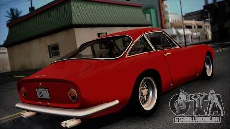 Ferrari 250 GT Berlinetta Lusso 1963 [ImVehFt] para GTA San Andreas traseira esquerda vista