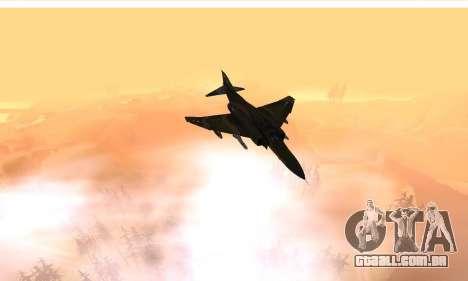 F-4 Vietnam War Camo para GTA San Andreas vista interior