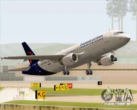 Airbus A320-200 Brussels Airlines para as rodas de GTA San Andreas