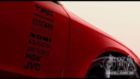 Audi S4 2010 Blacktop para GTA San Andreas traseira esquerda vista