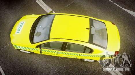 Holden Commodore Omega Series II Taxi v3.0 para GTA 4 vista direita