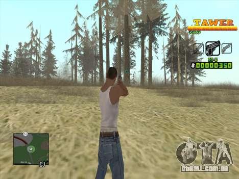 С-HUD por D. Correia para GTA San Andreas segunda tela
