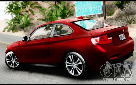BMW M235i F22 2015 para GTA San Andreas traseira esquerda vista