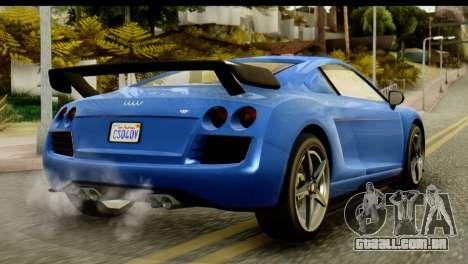 GTA 5 Obey 9F Coupe IVF para GTA San Andreas traseira esquerda vista