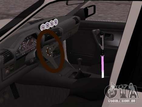 BMW M3 E30 Drift para GTA San Andreas traseira esquerda vista