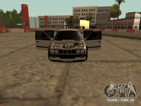 BMW M3 E30 Drift para GTA San Andreas esquerda vista