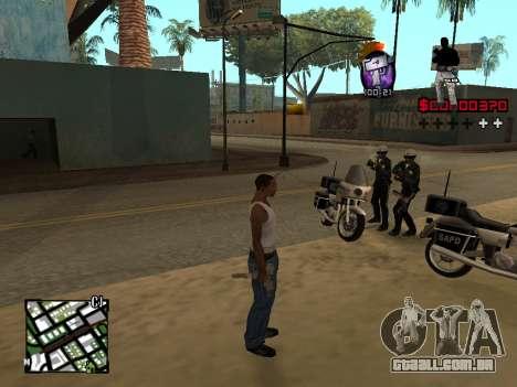 C-HUD by Alesha para GTA San Andreas segunda tela