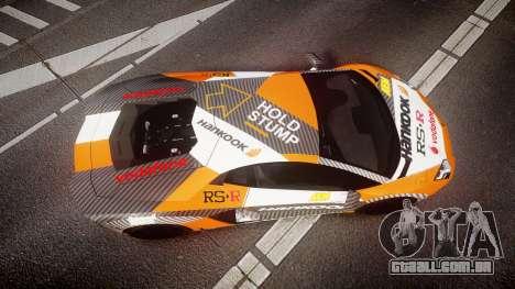Lamborghini Aventador 2012 [EPM] Hankook Orange para GTA 4 vista direita