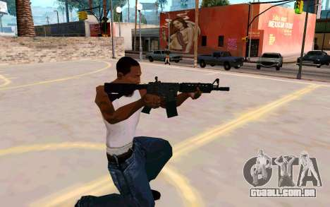 M4A1 (Dodgers) para GTA San Andreas terceira tela