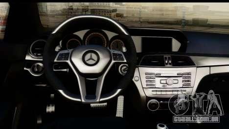 Mercedes-Benz C63 AMG 2012 Black Series para GTA San Andreas vista traseira