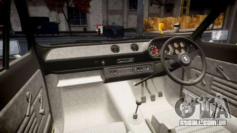 Ford Escort RS1600 PJ39 para GTA 4 vista interior