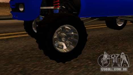 GTA 5 Vapid Sandking XL IVF para GTA San Andreas traseira esquerda vista